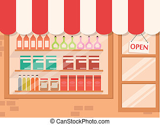 Store and Market background