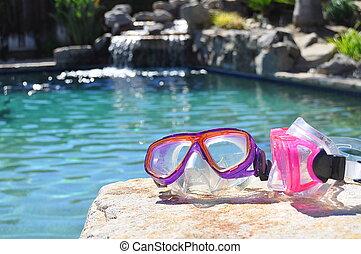 natación, gafas de protección