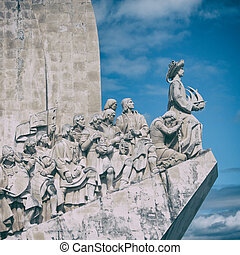 Lisbon Monument - The Monument to the Discoveries in Lisbon.