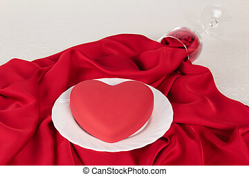 Valentine Day table setting - The Valentine Day Dinner table...