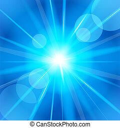 Bright star. Vector illustration.