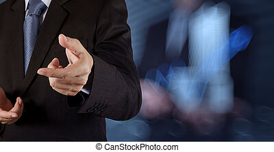 businessman success working with his team as concept