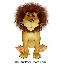 3d cartoon lion