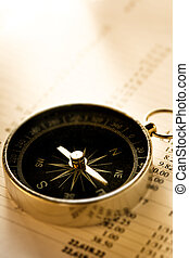 Operating budget and black compass in toning