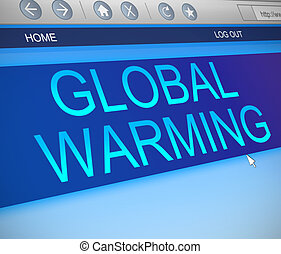 Global warming concept.
