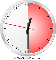 timer with 30 thirty minutes - vector illustration of a...