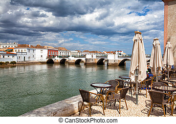 Historic architecture in Tavira city, Algarve,Portugal