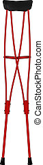 Retro crutches - Crutches in retro design on white...