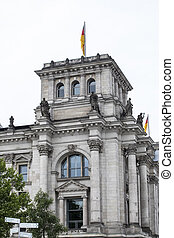 details of buildings - the seat of the German parliament...