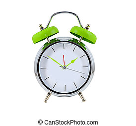 Alarmclock on the white background