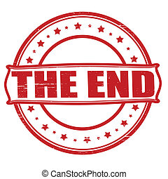 The end - Stamp with text the end inside, vector...
