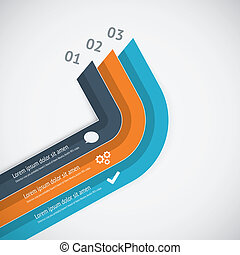 Flat infographic vector template showing business growth