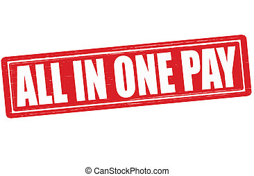 All in one pay - Stamp with text all in one pay inside,...