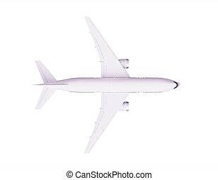 airplane - 3d render of airplane on white background
