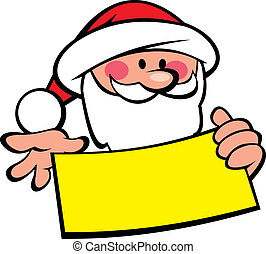 santa claus and wish list