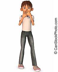 Toon Boy - 3D Render of an Toon Boy