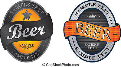 beer label theme vector graphic art design illustration