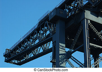Finnieston Crane 03 - Histroric landmark crane next to the...