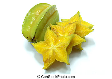 Star fruit and Star apple fruit food