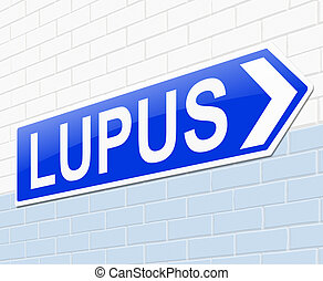 Lupus concept - Illustration depicting a sign with a Lupus...