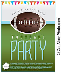 Football Party Flyer - A flyer design perfect for tailgate...