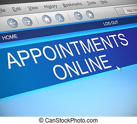 Online appointments concept - Illustration depicting a...