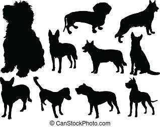 dog collection 2 - vector - illustration of dog collection 2...