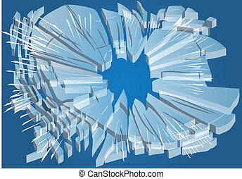 broken glass. abstract background broken illustration. 10...