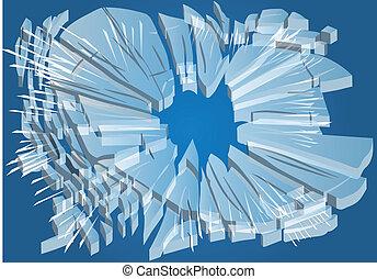 broken glass. abstract background broken illustration. 10...