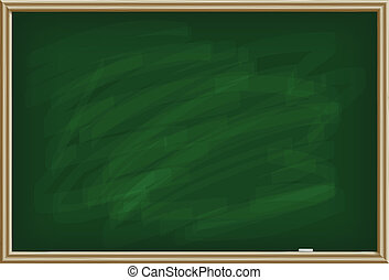 School board - Green school board with a chalk, isolated on...
