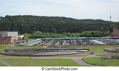 water cleaning facility - city sewage water treatment...