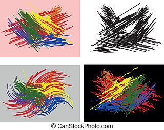 Abstract colourfull backgrounds Set