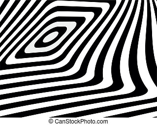 Striped black- white background