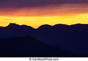 Grand Canyon - Sunrise in Grand Canyon National Park,...