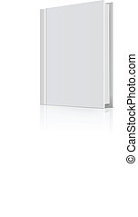 Blank book cover over white background. Vector illustration