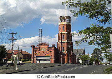 Australia, VIC, Ballarat - Fire Station in Ballarat,...