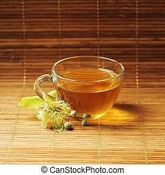 Linden tea - Cup with Linden tea.