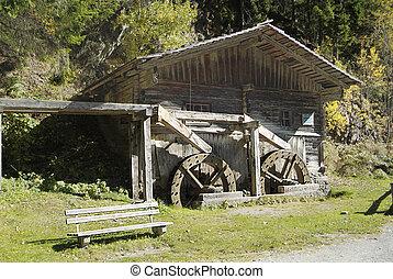 Austria, Carinthia - Austria, Wachterbachmuehle - mill with...