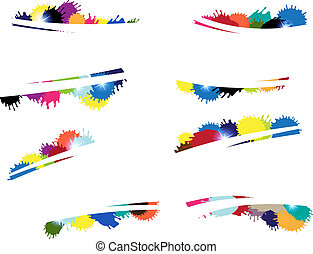 multi-colored blots - Many multi-colored blots A set of the...