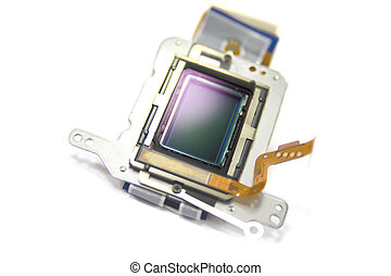 Camera, sensor - Camera sensor gainst white background