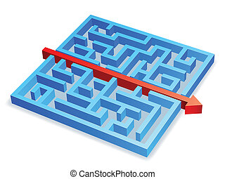 Maze concept.