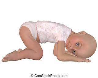 Cute Baby - 3D Render of an Cute Baby