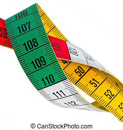 Tape Measure - Measuring tape of the tailor isolated over...