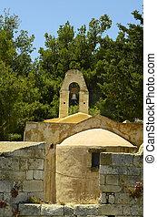 Greece, Crete, church in fortezza Rethymno