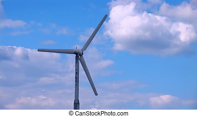 wind turbine - propeller wind turbine rotates looped