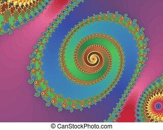 Colorful,fractal spiral