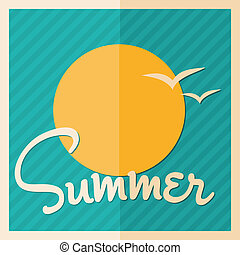 Colorful Summer Poster Design - Minimalist style summer...