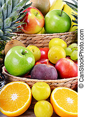 Composition with variety of fresh fruits Balanced diet