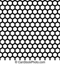 honeycomb seamless pattern in vector black color