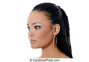The girl the mulatto with a beautiful make-up - The girl the...